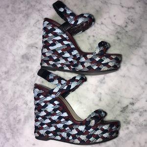 Dior platform espadrilles wedge size 6